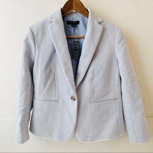 NWT Ann Taylor petite tweed blazer blue white 6P